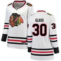 Jeff Glass Chicago Blackhawks Women's Fanatics Branded White Breakaway Away Jersey