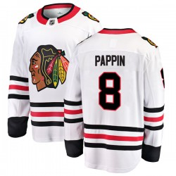 Jim Pappin Chicago Blackhawks Men's Fanatics Branded White Breakaway Away Jersey