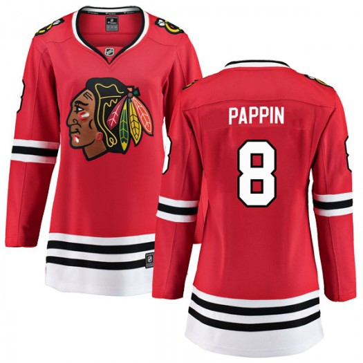 Jim Pappin Chicago Blackhawks Women's Fanatics Branded Red Breakaway Home Jersey