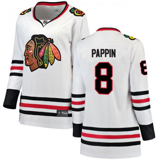 Jim Pappin Chicago Blackhawks Women's Fanatics Branded White Breakaway Away Jersey