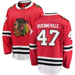 John Quenneville Chicago Blackhawks Men's Fanatics Branded Red ized Breakaway Home Jersey