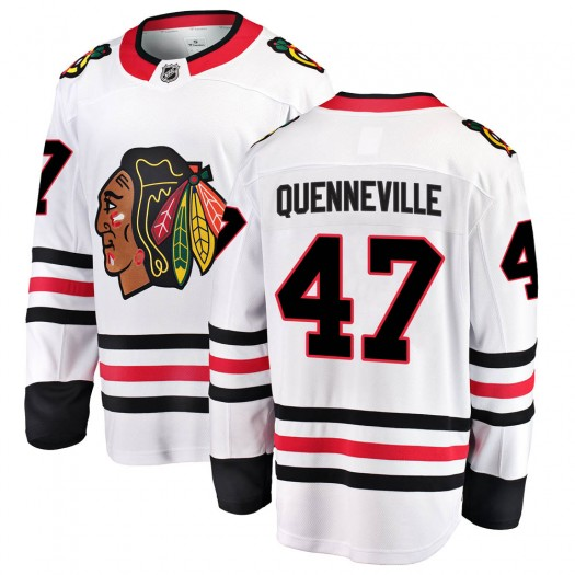 John Quenneville Chicago Blackhawks Men's Fanatics Branded White ized Breakaway Away Jersey