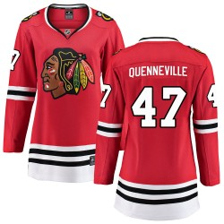 John Quenneville Chicago Blackhawks Women's Fanatics Branded Red ized Breakaway Home Jersey