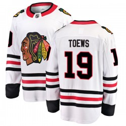 Jonathan Toews Chicago Blackhawks Men's Fanatics Branded White Breakaway Away Jersey