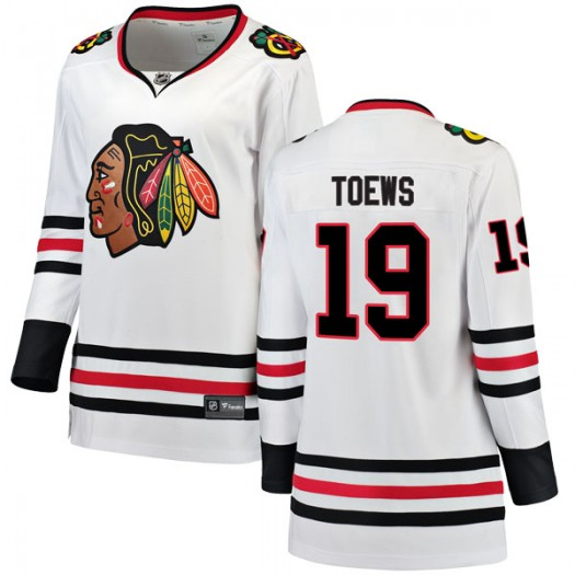 Jonathan Toews Chicago Blackhawks Women's Fanatics Branded White Breakaway Away Jersey