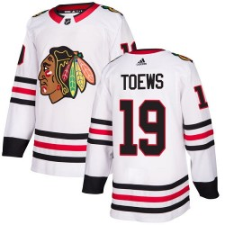 Jonathan Toews Chicago Blackhawks Youth Adidas Authentic White Away Jersey