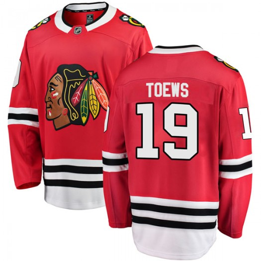 Jonathan Toews Chicago Blackhawks Youth Fanatics Branded Red Breakaway Home Jersey