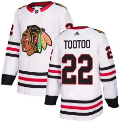 Jordin Tootoo Chicago Blackhawks Women's Adidas Authentic White Away Jersey