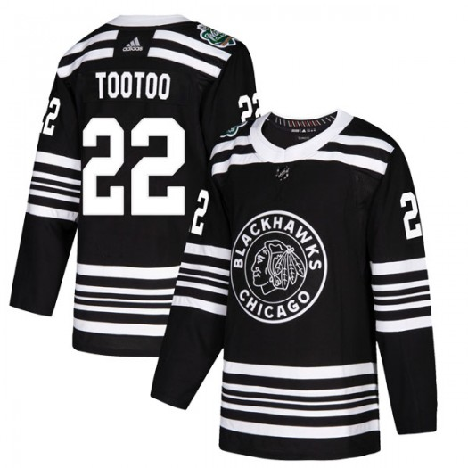 Jordin Tootoo Chicago Blackhawks Youth Adidas Authentic Black 2019 Winter Classic Jersey