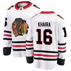 Jujhar Khaira Chicago Blackhawks Men's Fanatics Branded White Breakaway Away Jersey