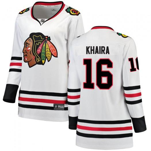 Jujhar Khaira Chicago Blackhawks Women's Fanatics Branded White Breakaway Away Jersey