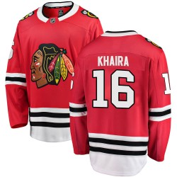 Jujhar Khaira Chicago Blackhawks Youth Fanatics Branded Red Breakaway Home Jersey