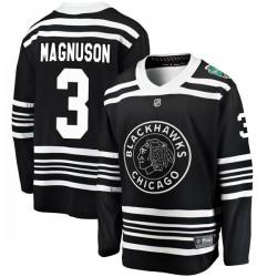 Keith Magnuson Chicago Blackhawks Men's Fanatics Branded Black 2019 Winter Classic Breakaway Jersey