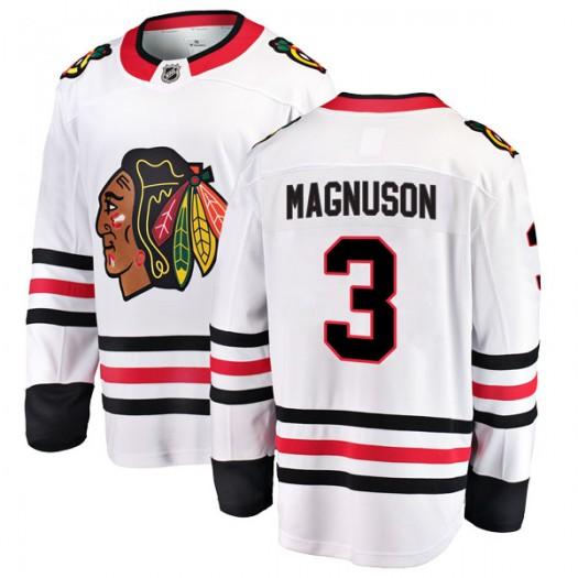 Keith Magnuson Chicago Blackhawks Men's Fanatics Branded White Breakaway Away Jersey