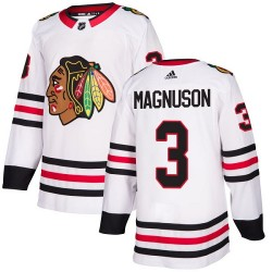 Keith Magnuson Chicago Blackhawks Women's Adidas Authentic White Away Jersey