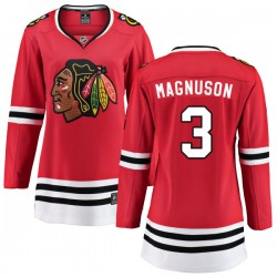Keith Magnuson Chicago Blackhawks Women's Fanatics Branded Red Home Breakaway Jersey