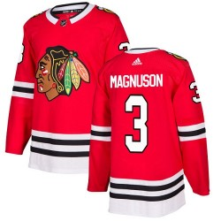 Keith Magnuson Chicago Blackhawks Youth Adidas Authentic Red Home Jersey