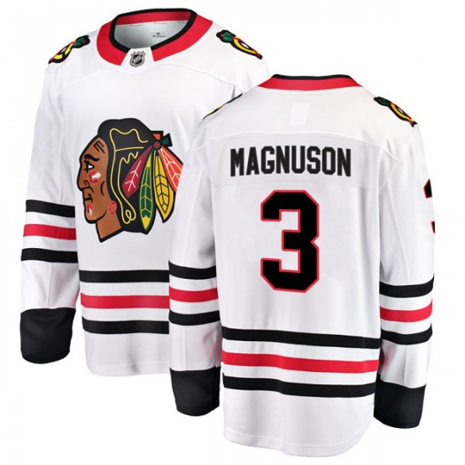 Keith Magnuson Chicago Blackhawks Youth Fanatics Branded White Breakaway Away Jersey