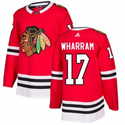 Kenny Wharram Chicago Blackhawks Men's Adidas Authentic Red Home Jersey