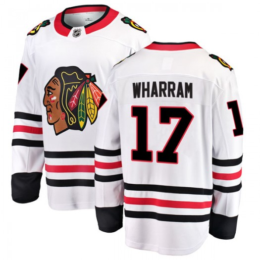 Kenny Wharram Chicago Blackhawks Men's Fanatics Branded White Breakaway Away Jersey