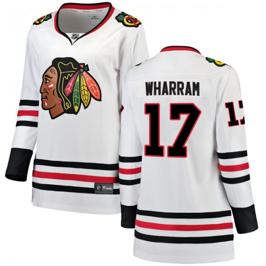 Kenny Wharram Chicago Blackhawks Women's Fanatics Branded White Breakaway Away Jersey