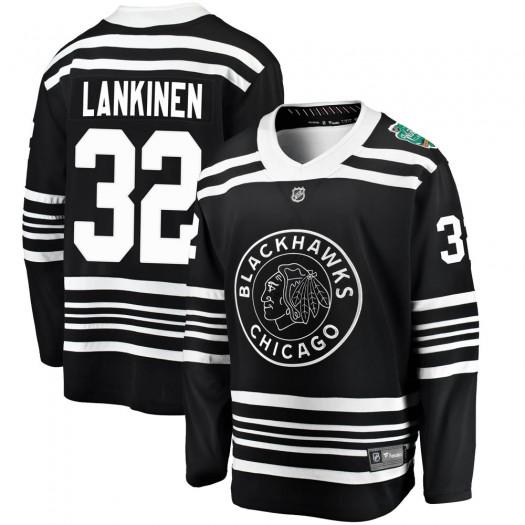 Kevin Lankinen Chicago Blackhawks Men's Fanatics Branded Black 2019 Winter Classic Breakaway Jersey