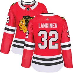 Kevin Lankinen Chicago Blackhawks Women's Adidas Authentic Red Home Jersey