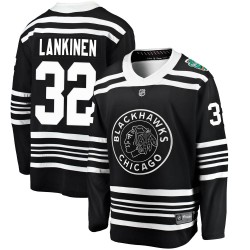 Kevin Lankinen Chicago Blackhawks Youth Fanatics Branded Black 2019 Winter Classic Breakaway Jersey