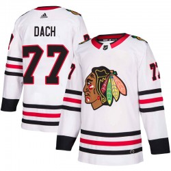 Kirby Dach Chicago Blackhawks Men's Adidas Authentic White Away Jersey