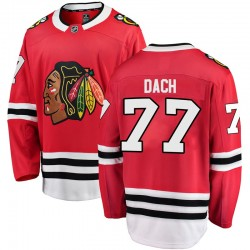 Kirby Dach Chicago Blackhawks Men's Fanatics Branded Red Breakaway Home Jersey