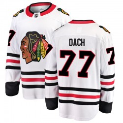 Kirby Dach Chicago Blackhawks Youth Fanatics Branded White Breakaway Away Jersey