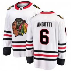 Lou Angotti Chicago Blackhawks Men's Fanatics Branded White Breakaway Away Jersey