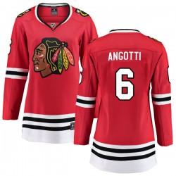 Lou Angotti Chicago Blackhawks Women's Fanatics Branded Red Breakaway Home Jersey