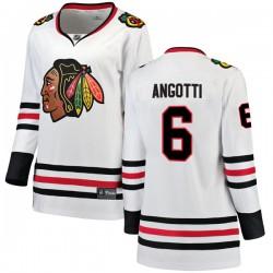 Lou Angotti Chicago Blackhawks Women's Fanatics Branded White Breakaway Away Jersey