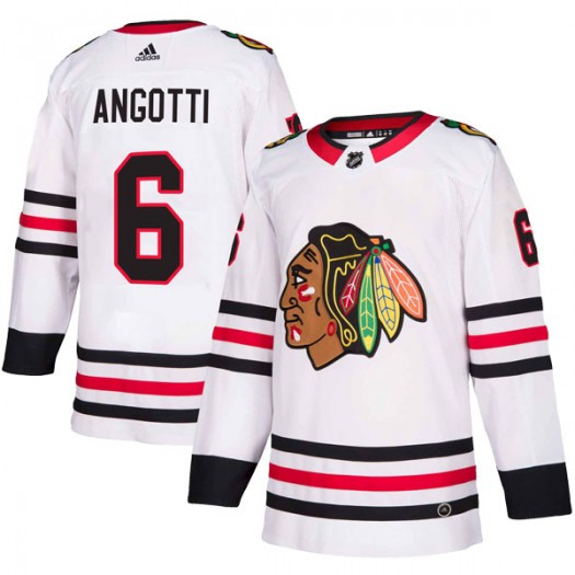 Lou Angotti Chicago Blackhawks Youth Adidas Authentic White Away Jersey