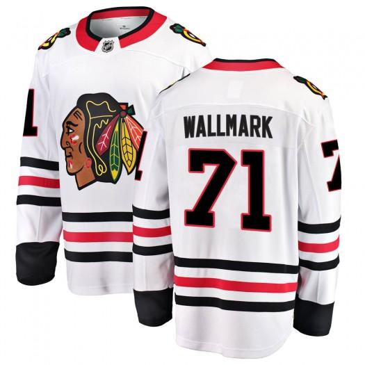 Lucas Wallmark Chicago Blackhawks Men's Fanatics Branded White Breakaway Away Jersey