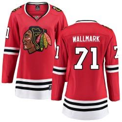 Lucas Wallmark Chicago Blackhawks Women's Fanatics Branded Red Breakaway Home Jersey