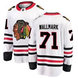 Lucas Wallmark Chicago Blackhawks Youth Fanatics Branded White Breakaway Away Jersey