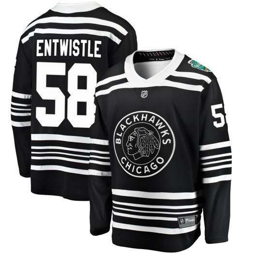 Mackenzie Entwistle Chicago Blackhawks Men's Fanatics Branded Black ized 2019 Winter Classic Breakaway Jersey
