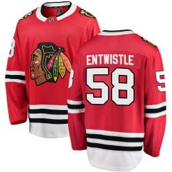 Mackenzie Entwistle Chicago Blackhawks Men's Fanatics Branded Red ized Breakaway Home Jersey