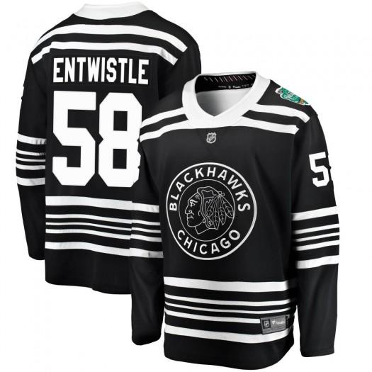 Mackenzie Entwistle Chicago Blackhawks Youth Fanatics Branded Black ized 2019 Winter Classic Breakaway Jersey