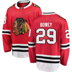 Madison Bowey Chicago Blackhawks Men's Fanatics Branded Red Breakaway Home Jersey