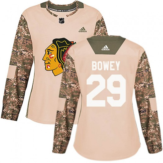 Madison Bowey Chicago Blackhawks Women's Authentic Camo adidas Veterans Day Practice Jersey