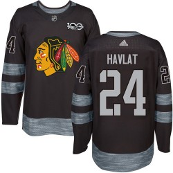 Martin Havlat Chicago Blackhawks Men's Adidas Authentic Black 1917-2017 100th Anniversary Jersey