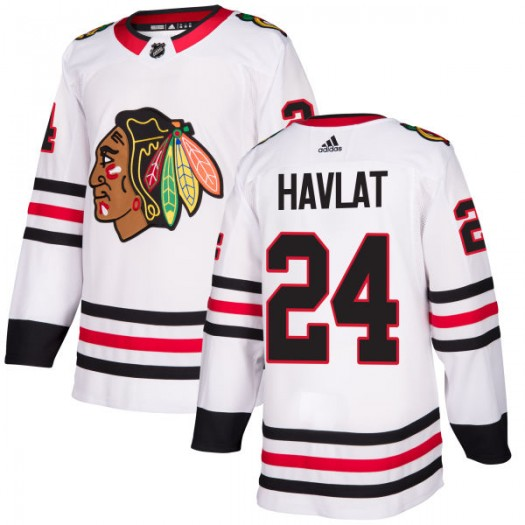 Martin Havlat Chicago Blackhawks Men's Adidas Authentic White Jersey