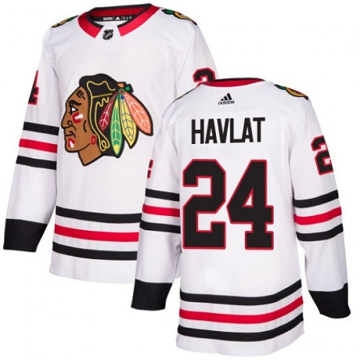 Martin Havlat Chicago Blackhawks Youth Adidas Authentic White Away Jersey
