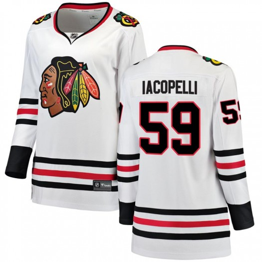 Matt Iacopelli Chicago Blackhawks Women's Fanatics Branded White Breakaway Away Jersey