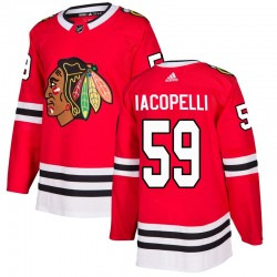 Matt Iacopelli Chicago Blackhawks Youth Adidas Authentic Red Home Jersey