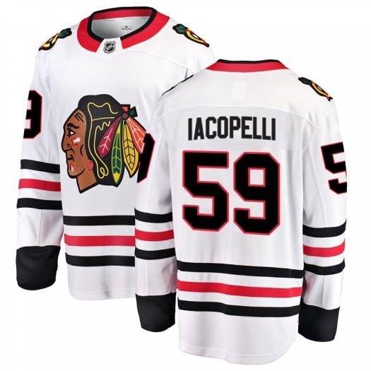 Matt Iacopelli Chicago Blackhawks Youth Fanatics Branded White Breakaway Away Jersey