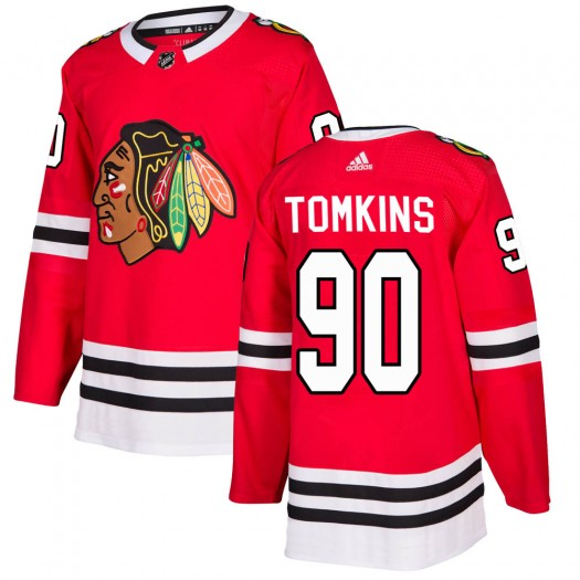 Matt Tomkins Chicago Blackhawks Youth Adidas Authentic Red Home Jersey